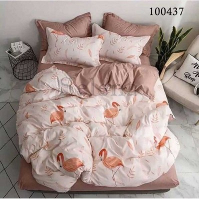 Постельное белье Selena бязь 100437 Фламинго Пудра