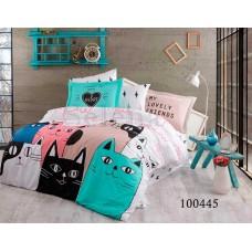 Постельное белье Selena бязь 100445 Коты Maxi