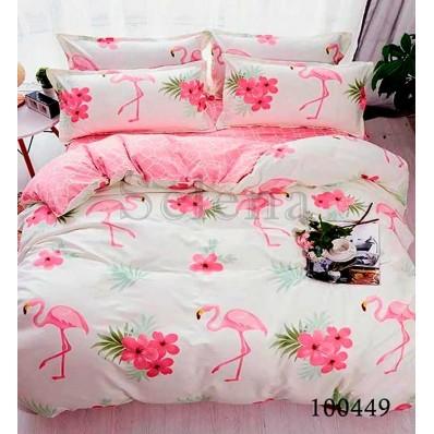 Постельное белье Selena бязь 100449 Розовый Фламинго2