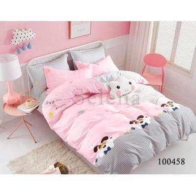 Постельное белье Selena бязь 100458 Дружок Pink