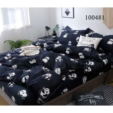 Постельное белье Selena бязь 100481 Пандочки Black