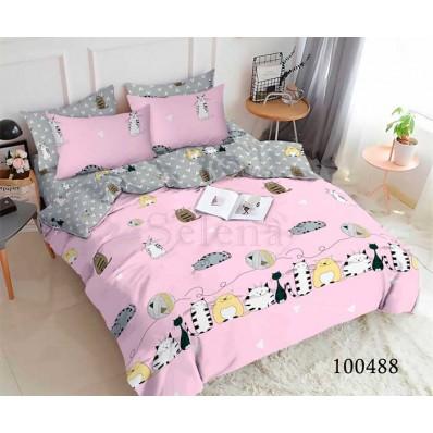 Постельное белье Selena бязь 100488 Котята Непоседы pink