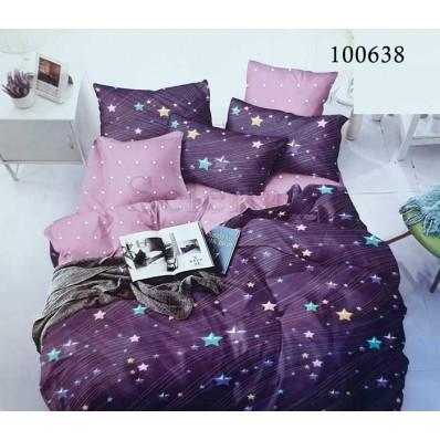 Постельное белье Selena бязь 100638 Звезды Фиолетовые