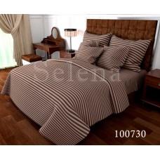 Постельное белье Selena бязь 100730 Stripe brown