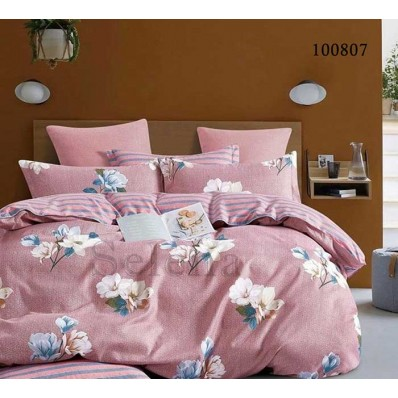 Постельное белье Selena бязь 100807 Розовое Утро