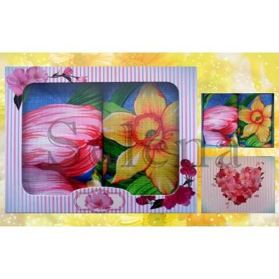 Набор вафельных кухонных полотенец Selena 700001 Весенний