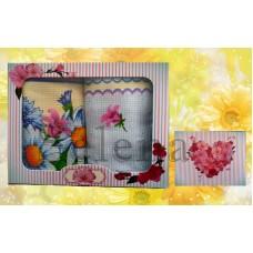 Набор вафельных кухонных полотенец Selena 700004 Ромашки