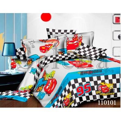 Комплект постельного белья Selena подростковое бязь 110101 Тачки Молния