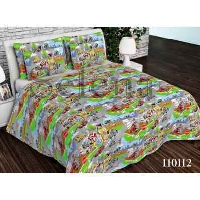 Комплект постельного белья Selena подростковое бязь 110112 Веселая Дорога