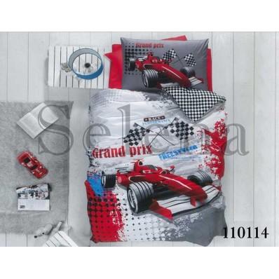Комплект постельного белья Selena подростковое бязь 110114 Гонки
