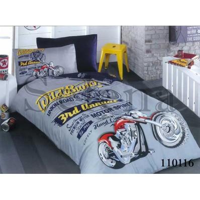 Комплект постельного белья Selena подростковое бязь 110116 Мото 2