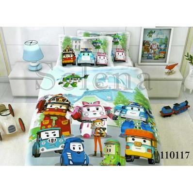 Комплект постельного белья Selena подростковое бязь 110117 Машинки