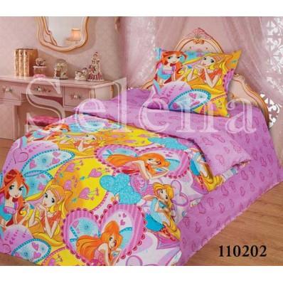 Комплект постельного белья Selena подростковое бязь 110202 Winx