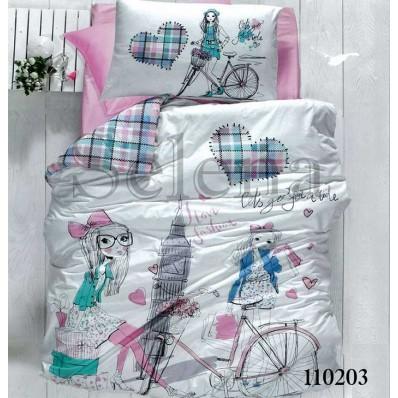 Комплект постельного белья Selena подростковое бязь 110203 Путешествие