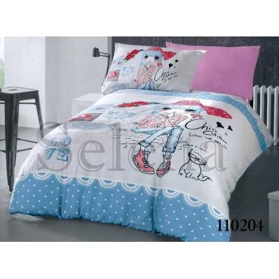 Комплект постельного белья Selena подростковое бязь 110204 Модница