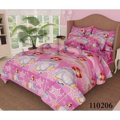 Комплект постельного белья Selena подростковое бязь 110206 София