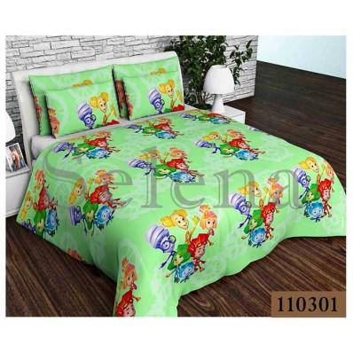 Комплект постельного белья Selena подростковое бязь 110301 Фиксики Green