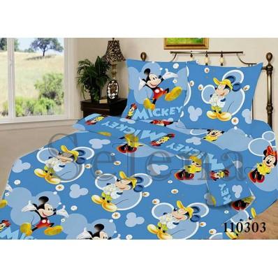 Комплект постельного белья Selena подростковое бязь 110303 Микки Маус