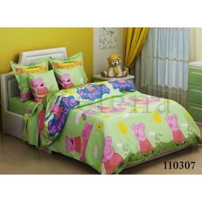 Комплект постельного белья Selena подростковое бязь 110307 Свинка Пеппа