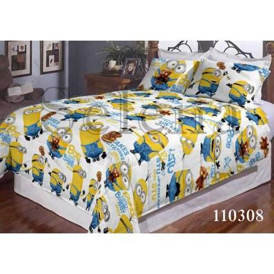 Комплект постельного белья Selena подростковое бязь 110308 Миньоны