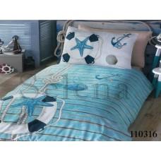 Постельное белье Selena подростковое бязь 110316 Морской