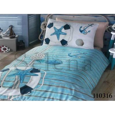 Комплект постельного белья Selena подростковое бязь 110316 Морской