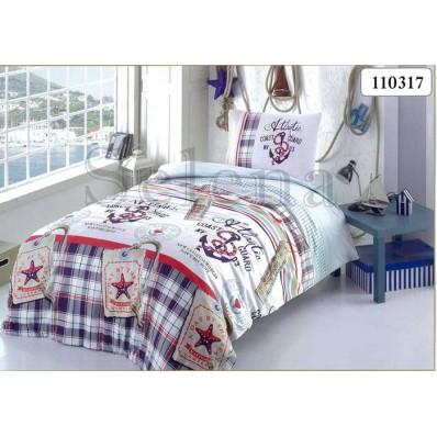 Комплект постельного белья Selena подростковое бязь 110317 Якоря
