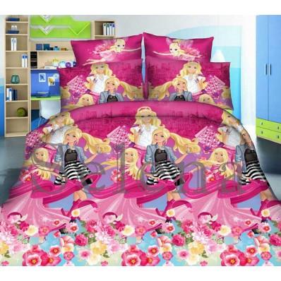 Комплект постельного белья Selena подростковое ранфорс 210106 Барби