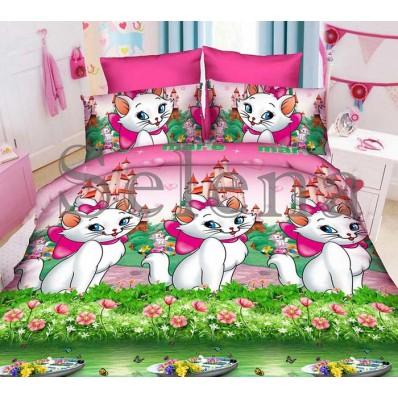 Комплект постельного белья Selena подростковое ранфорс 210108 Красавица Marie