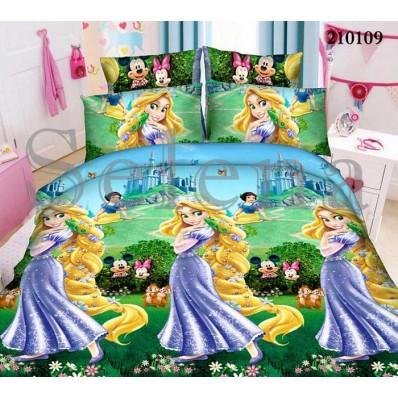 Комплект постельного белья Selena подростковое ранфорс 210109 Рапунцель