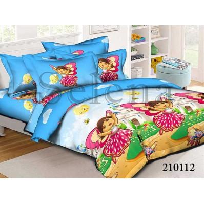 Комплект постельного белья Selena подростковое ранфорс 210112 Даша Путешественница