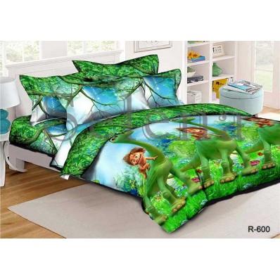 Комплект постельного белья Selena подростковое ранфорс 210113 Динозавр