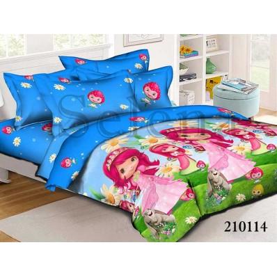 Комплект постельного белья Selena подростковое ранфорс 210114 Шарлотта Земляничка