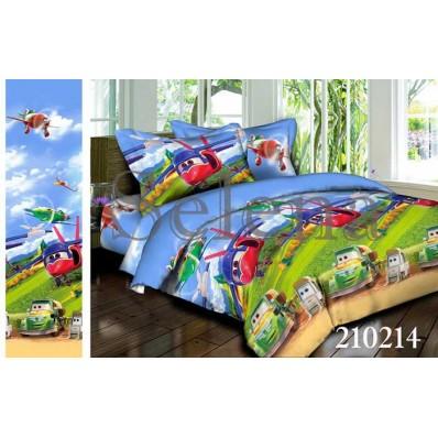 Комплект постельного белья Selena подростковое ранфорс 210214 Тачки-Летачки 2