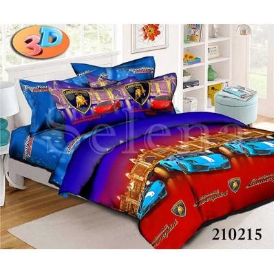 Комплект постельного белья Selena подростковое ранфорс 210215 Ламборджини