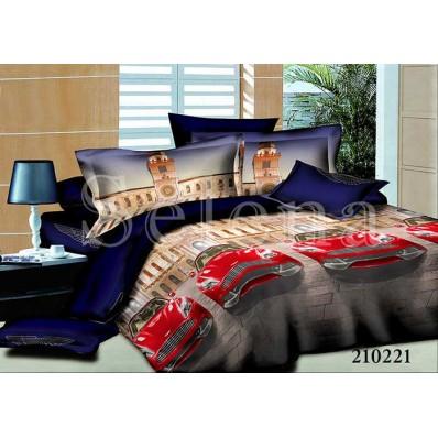 Комплект постельного белья Selena подростковое ранфорс 210221 Авто-Мини