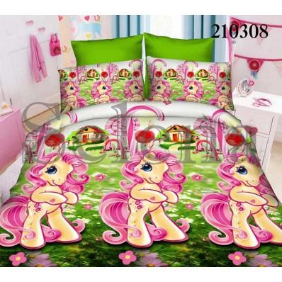 Комплект постельного белья Selena подростковое ранфорс 210308 Пони