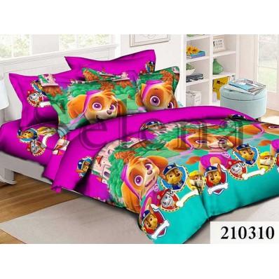 Комплект постельного белья Selena подростковое ранфорс 210310 Щенячий Патруль 2