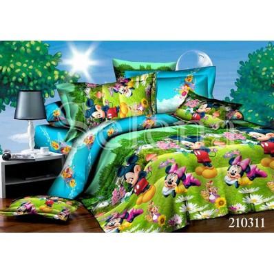 Комплект постельного белья Selena подростковое ранфорс 210311 Микки