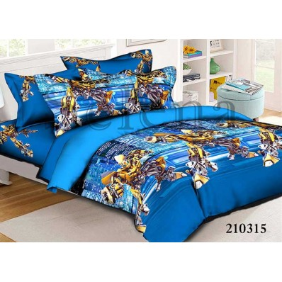 Комплект постельного белья Selena подростковое ранфорс 210315 Трансформеры
