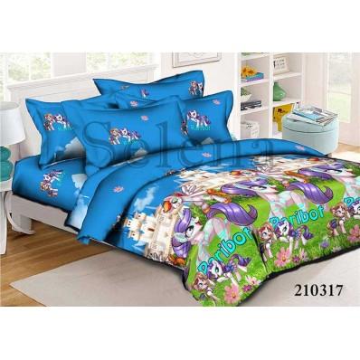 Комплект постельного белья Selena подростковое ранфорс 210317 Little Pony