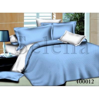 Комплект постельного белья Selena поплин 400012 Горошек Голубой