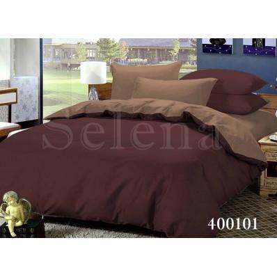 Комплект постельного белья Selena поплин 400101 Шоколад