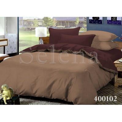 Комплект постельного белья Selena поплин 400102 Шоколад-Светлый