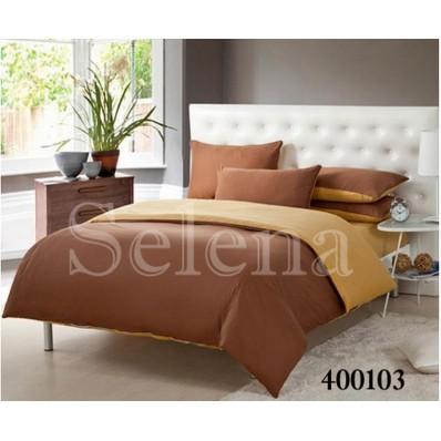 Комплект постельного белья Selena поплин 400103 Латте