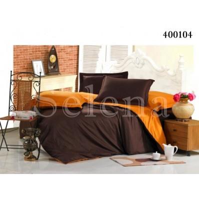 Постельное белье Selena поплин 400104 Шоколадно-Оранжевый