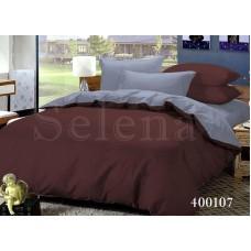 Постельное белье Selena поплин 400107 Шоколад-Серый