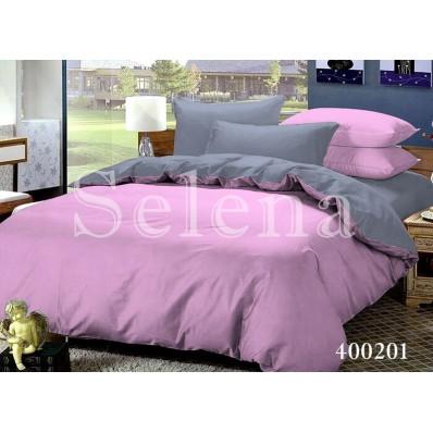 Комплект постельного белья Selena поплин 400201 Серо-Розовый
