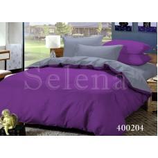 Постельное белье Selena поплин 400204 Серо-Фиолетовый