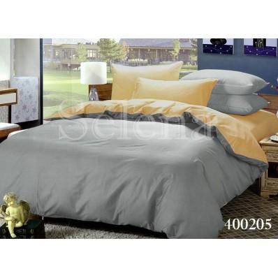 Комплект постельного белья Selena поплин 400205 Ванильно-серый